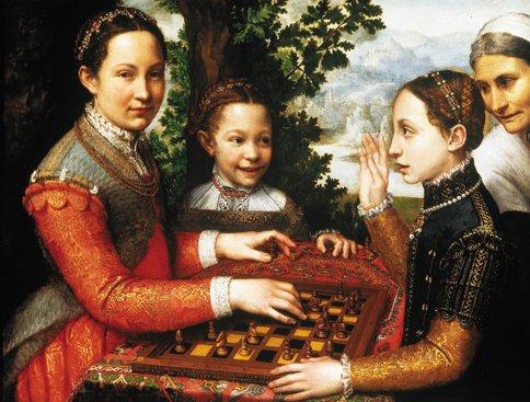 Obraz Sofonisba Anguissola,  Gra w szachy. (fot. Pracownia Fotograficzna MNK)