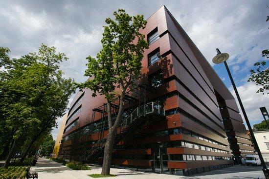 Nowo wybudowany gmach Narodowego Forum Muzyki - widok z zewnątrz. Autor zdjęcia: Danuta Matloch