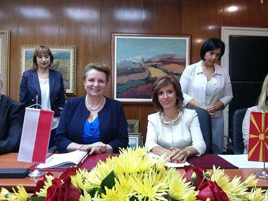 Minister Kultury i Dziedzictwa Narodowego prof. Małgorzata Omilanowska i Minister Kultury Macedonii Elizabetą Kanceską-Milevska