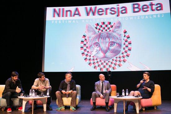 Uroczyste otwarcie festiwalu kultury audiowizualnej NInA Wersja Beta. autor zdjecia: Danuta Matloch