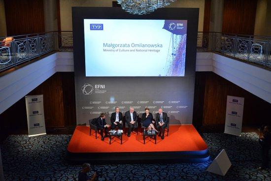 Media publiczne - między jakością a wynikami - panel z udziałem Minister Kultury i Dziedzictwa Narodowego prof. Małgorzaty Omilanowskiej w trakcie Europejskiego Forum Nowych Idei