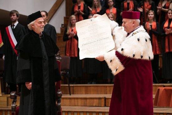Zdjęcie Doktorat honoris causa UMFC dla Krystiana Zimermana. autor zdjęcia: Danuta Matloch