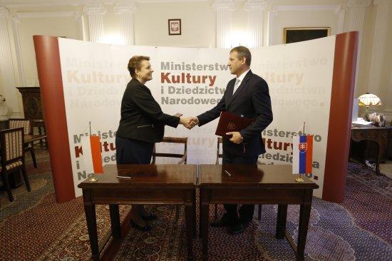 Podpisanie programu współpracy między Ministrem Kultury i Dziedzictwa Narodowego RP a Ministerstwem Kultury Republiki Słowackiej na lata 2015-2018