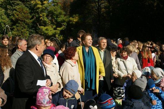 Na zdjęciu Minister Omilanowska w województwie zachodniopomorskim. autor zdjęcia: Andrzej Fulbiszewski/UM Koszalin
