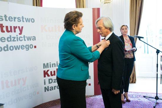 Uroczystość wręczenia medali Zasłużony Kulturze Gloria Artis. fot. Danuta Matloch