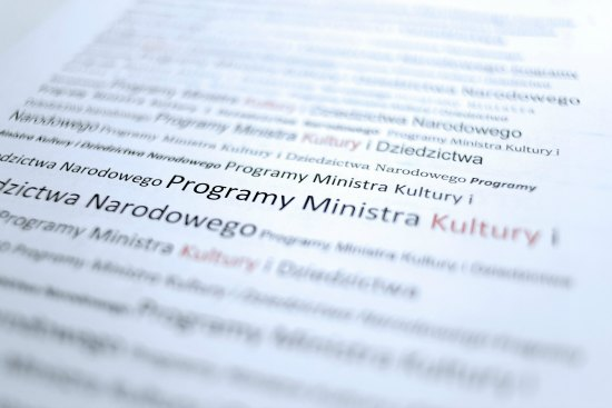 Grafika programy ministra