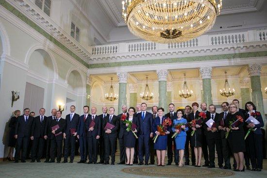 Na zdjęciu: Prezydent RP Andrzej Duda oraz członkowie Rady Ministrów. autor zdjęcia: Danuta Matloch