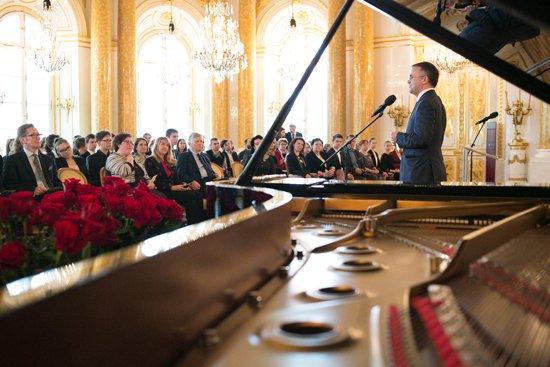 Na zdjęciu: Uroczystość wręczenia stypendiów  Ministra Kultury i Dziedzictwa Narodowego. autor zdjęcia: Danuta Matloch