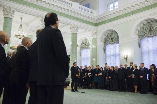 Prezydent RP Bronisław Komorowski otworzył Galerię Malarstwa Polskiego. Fot.: Łukasz Kamiński/Kancelaria Prezydenta RP
