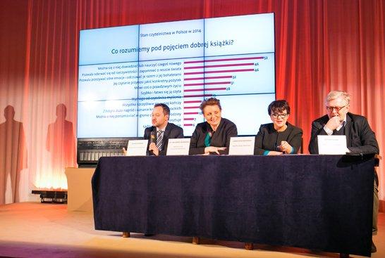 Konferencja prasowa na temat dotychczasowej realizacji Narodowego Programu Rozwoju Czytelnictwa 2014 – 2020. fot. Danuta Matloch