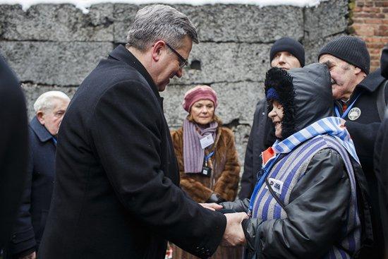 Foto: Uroczystości 70. rocznicy wyzwolenia KL Auschwitz. Fot.: Łukasz Kamiński/Kancelaria Prezydenta RP