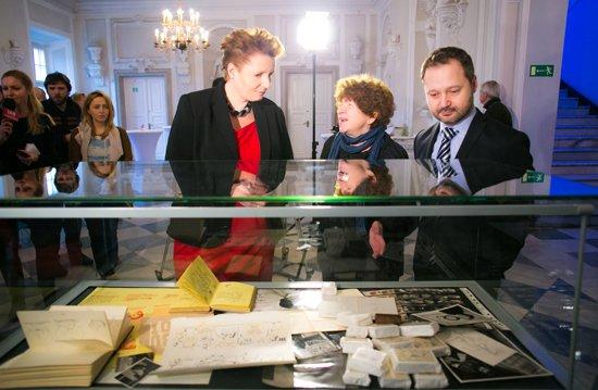 Uroczystość przekazania archiwum Themersonów do Biblioteki Narodowej. fot. Danuta Matloch