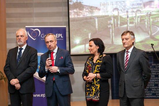 Wernisaż wystawy Nowa przestrzeń dla kultury w Parlamencie Europejskim