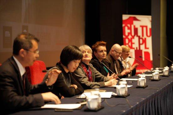 Konferencja prasowa poświęcona pekińskiej wystawie Skarby z kraju Chopina. Sztuka polska XV–XX wieku.