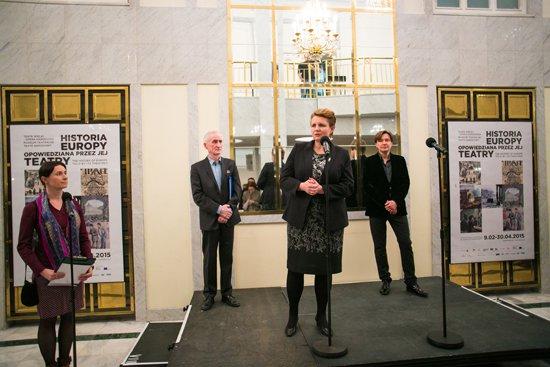 Wernisaż wystawy Historia Europy opowiedziana przez jej teatry. fot. Danuta Matloch
