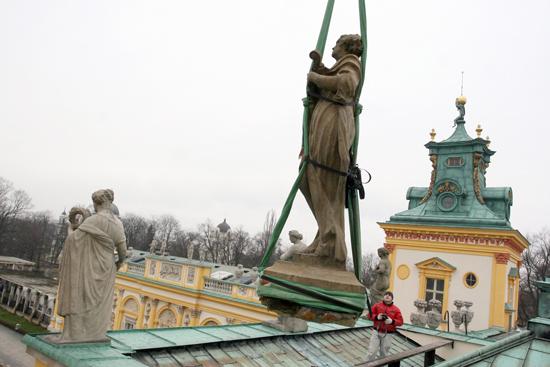 Prace renowacyjne w Muzeum Pałacu Króla Jana III w Wilanowie. fot. Danuta Matloch