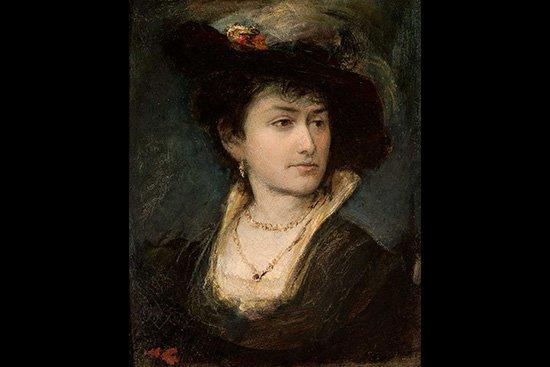 Maurycy Gottlieb,  Portret siostry artysty – Anny