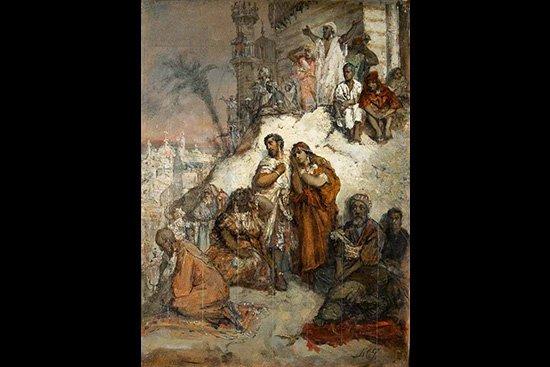 Maurycy Gottlieb,  Wygnanie Maurów z Granady