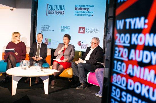 Konferencja prasowa Kultura Dostépna w internecie. fot. Danuta Matloch