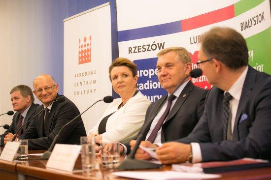 Konferencja prasowa na temat projektu Wschód Kultury. fot. Danuta Matloch