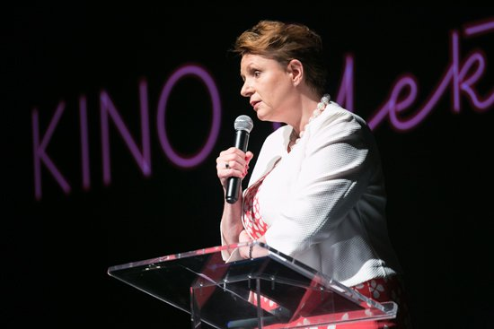Uroczyste otwarcie kina Elektronik - przemawia Minister Omilanowska. fot.: Danuta Matloch