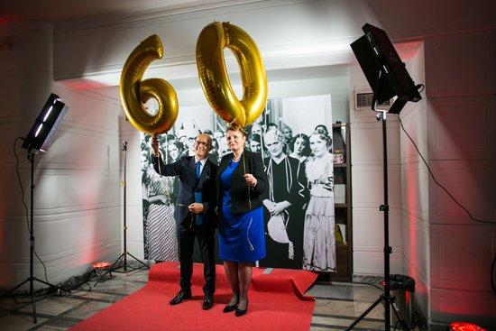 Minister Małgorzata Omilanowska oraz dyrektor Tadeusz Kowalski na rocznicowej uroczystości w warszawskim kinie Iluzjon. fot.: Danuta Matloch