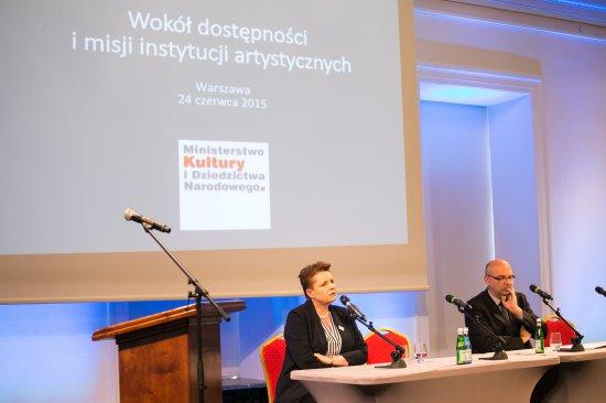Konferencja Wokół dostępności i misji instytucji artystycznych. fot.: Danuta Matloch