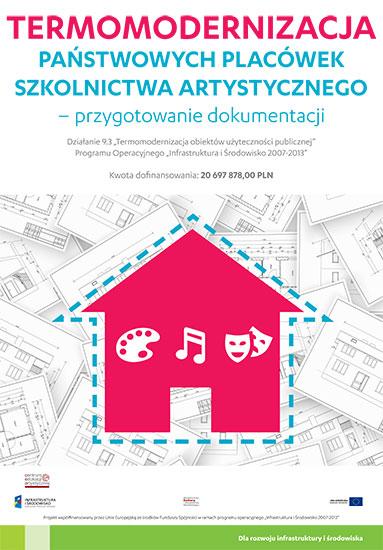 Plakat Termomodernizacja szkół artystycznych