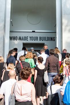 Na zdjęciu: Fair Building,  Pawilon Polski na Biennale Architektury 2016,  inauguracja wystawy 26.05.2016. autor zdjęcia: Maciej Jelonek /CC BYSA