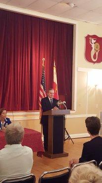 Na zdjęciu: Spotkanie z Polonią w Filadelfii