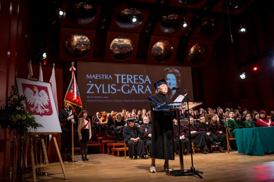 Na zdjęciu:   Inauguracja roku akademickiego 2016/2017 w Akademii Muzycznej im. Grażyny i Kiejstuta Bacewiczów w Łodzi