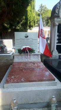 Na zdjęciu: Nagrobek Ignacego hr. Korwin-Milewskiego na cmentarzu w chorwackim Rovinju