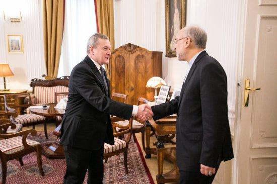 Na zdjęciu: Powitanie wiceprezydenta Iraku
