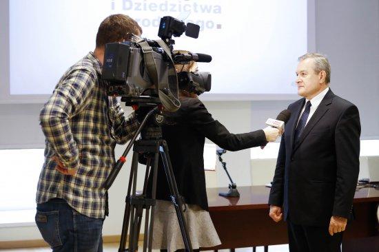 Na zdjęciu: Konferencja prasowa,  na której kierownictwo resortu zaprezentowało założenia programu  Niepodległa. autor zdjęcia: Danuta Matloch