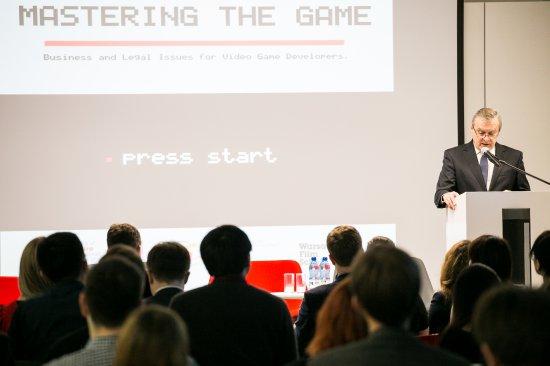Na zdjęciu:  Konferencja Mastering the Game. autor zdjęcia: Danuta Matloch
