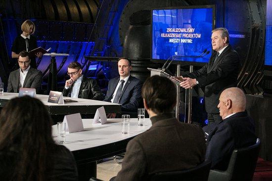 Na zdjęciu: konferencja prasowa programu Rozgrzewamy polskie serca