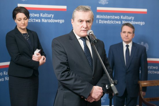 Na zdjęciu: minister kultury Piotr Gliński oraz burmistrz Ostrowi Jerzy Bauer