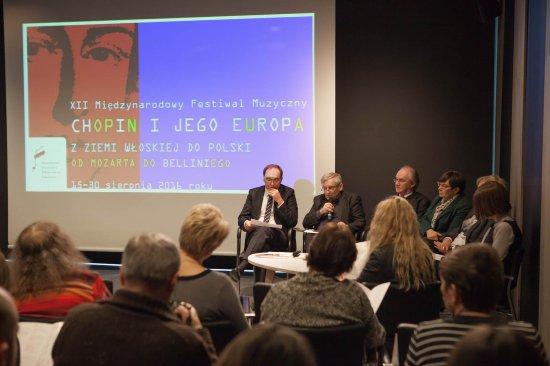 Na zdjęciu: Prezentacja programu 12. edycji Festiwalu Chopin i Jego Europa. Autor zdjęcia: Waldemar Kielichowski/NIFC