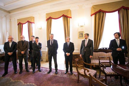 Na zdjęciu: Podpisanie umowy ws. wykonania projektu siedziby Muzeum Historii Polski w Warszawie. Autor zdjęcia: Danuta Matloch