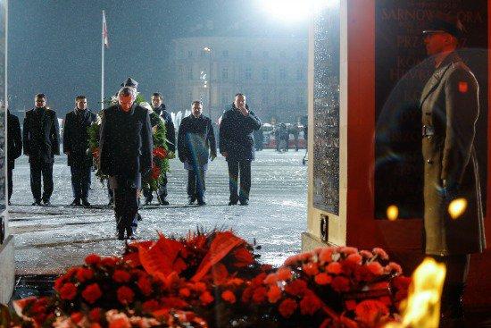 Na zdjęciu: Apel poległych przy Grobie Nieznanego Żołnierza w Warszawie. fot.: Danuta Matloch autor zdjęcia: Danuta Matloch