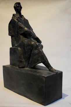 Na zdjęciu: Odlew rzeźby pomnikowej Juliusza Słowackiego,  fot. Grzegorz Witek