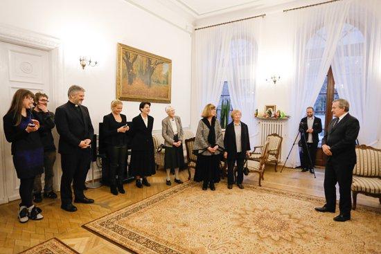 na zdjęciu: wręczenie Medali Gloria Artis członkom Polskiego Stowarzyszenia Montażystów. autor zdjęcia: Danuta Matloch