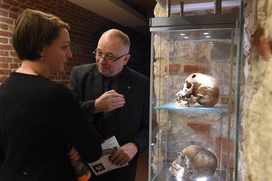 Na zdjęciu: Podsekretarz Stanu w MKiDN Generalnego Konserwatora Zabytków dr Magdalena Gawin w trakcie wizyty w Krakowie