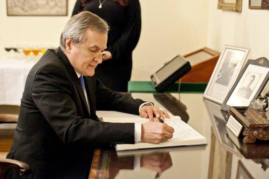 Wizyta Premiera Glińskiego w Instytucie Sikorskiego w Londynie fot. Małgorzata Skibińska