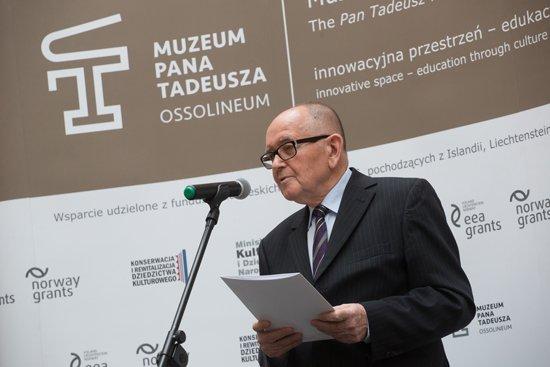 Na zdjęciu: Uroczysta inauguracja ekspozycji głównej Muzeum Pana Tadeusza we Wrocławiu  z udziałem Podsekretarz Stanu w MKiDN dr Magdaleny Gawin. autor zdjęcia: Andrzej Solnica