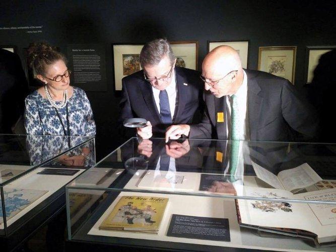 Na zdjęciu: wystawa Arthura Szyka w New York Historical Society. autor zdjęcia Krystyna Piórkowska