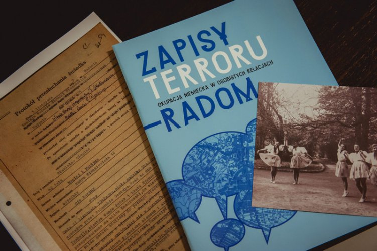 Na zdjęciu: Pezentacja projektu Zapisy Terroru.