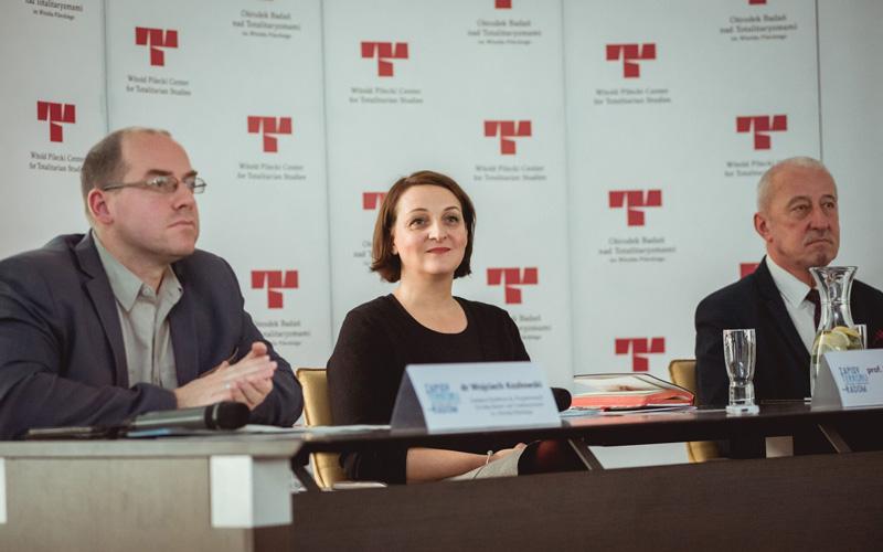 Na zdjęciu: Wiceminister Magdalena Gawin na prezentacji projektu Zapisy Terroru.