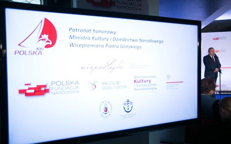 Na zdjęciu: Minister Piotr Gliński podczas konferencji dotyczącej programu Polska 100. autor zdjęcia: Danuta Matloch