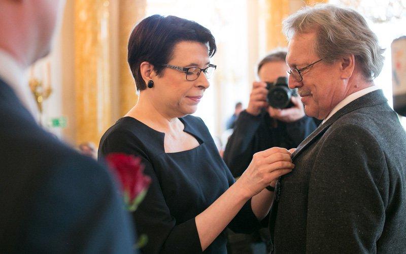 uroczyste spotkanie środowiska artystycznego z udziałem minister Zwinogrodzkiej. autor zdjęcia: Danuta Matloch